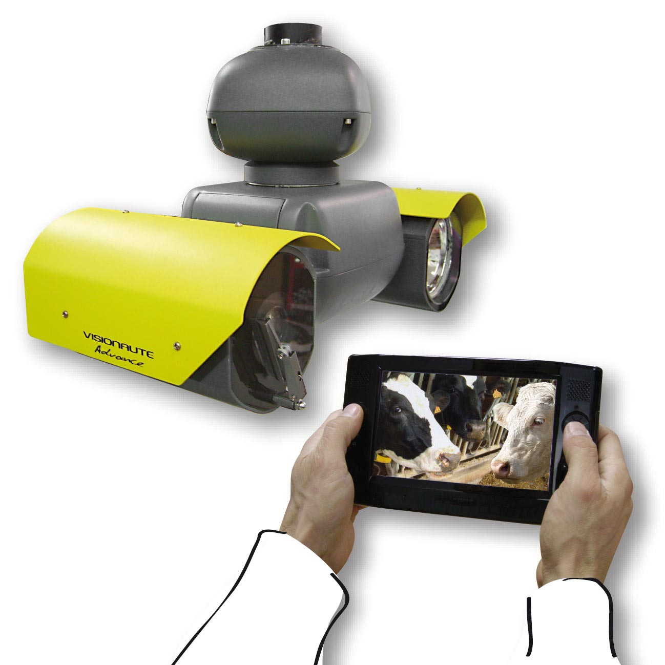 video-surveillance-d-elevage-et-d-etable-visionaute-camera-sofie-avec-tablette